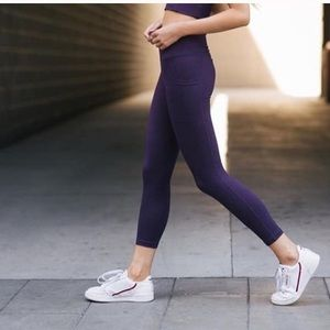 Zyia Active Plum Knot Pocket 7/8 Legging